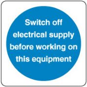 Mandatory Safety Sign - Switch Electrical 142